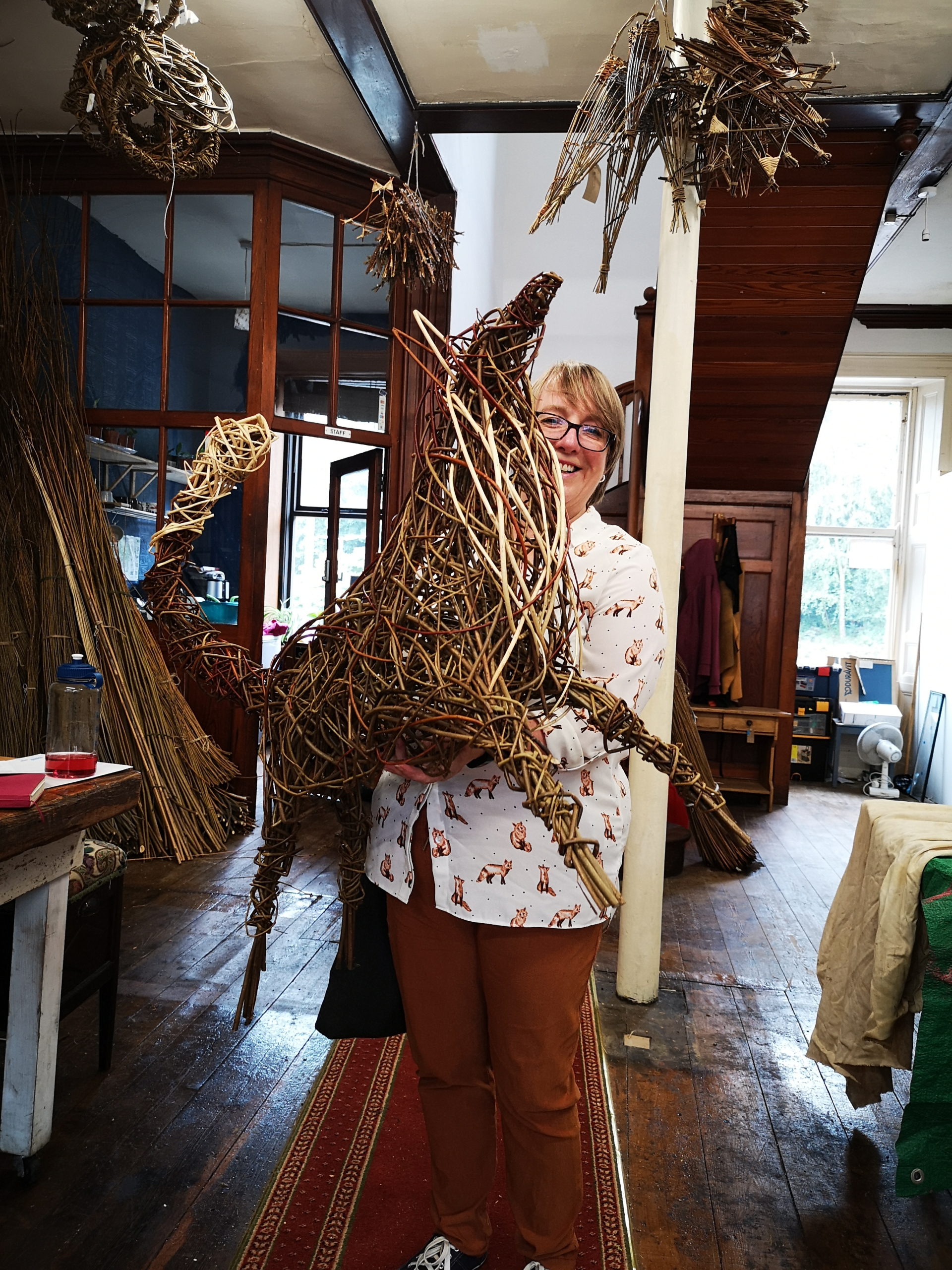 proud student and willow fox creative with nature