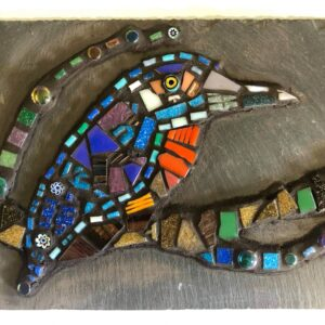 student mosaic kingfisher creative with nature todmorden