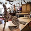 willow hare sculpture course creative with nature