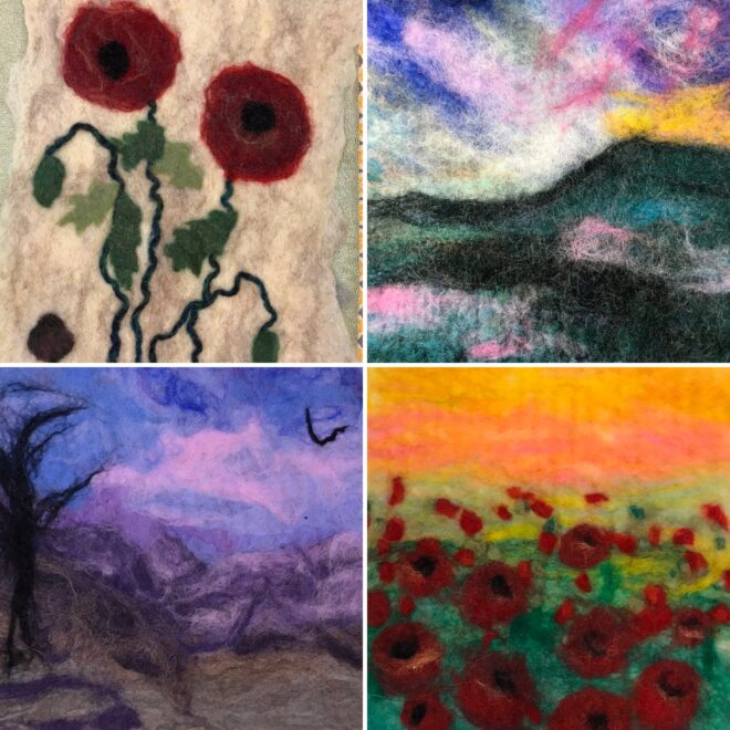Painting-with -wool-wet-felting-creative-with-nature