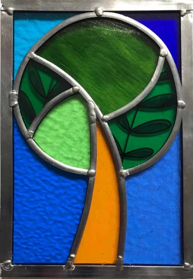 snadra thistlethwite stained glass piece