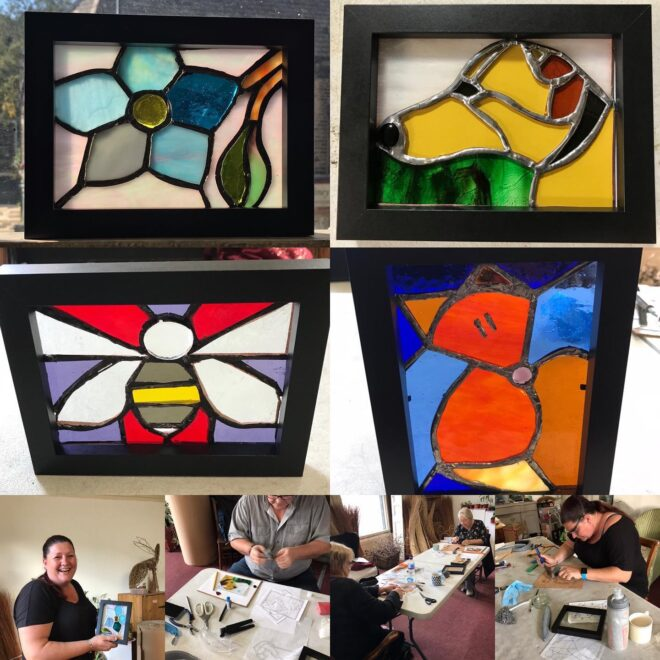 stained glas workshop creative with nature